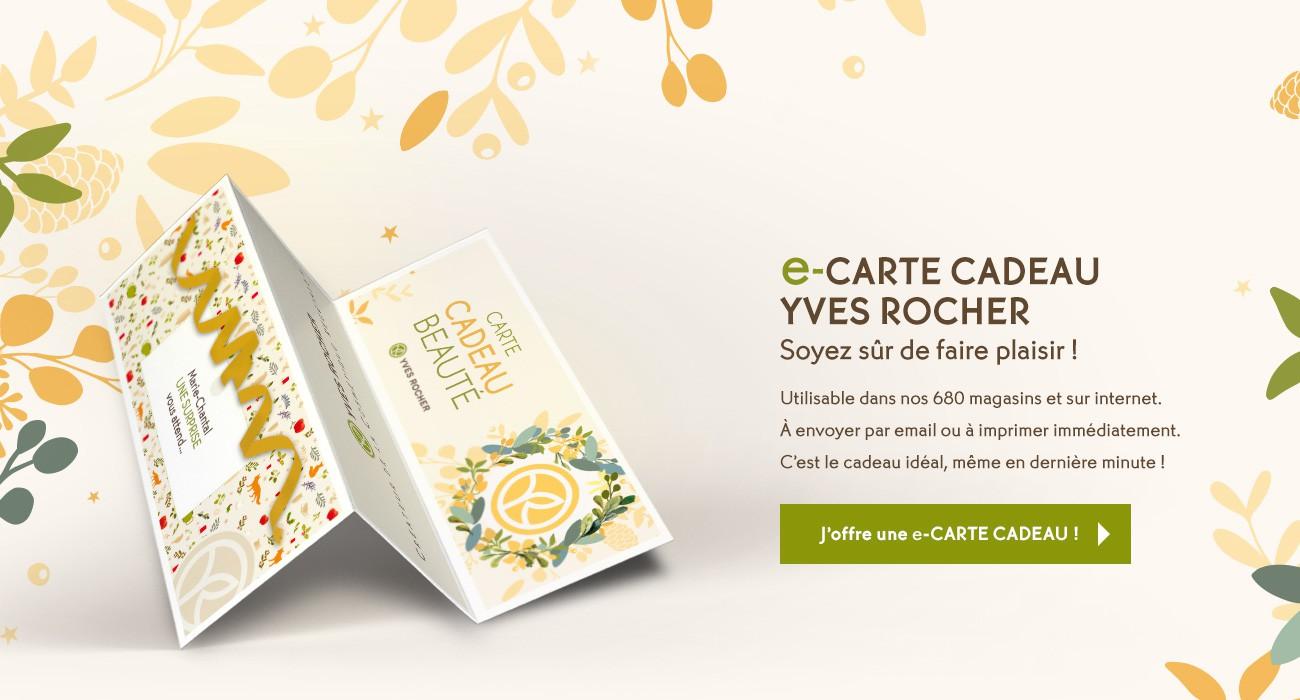 CARTE CADEAU YVES ROCHER MONTANT