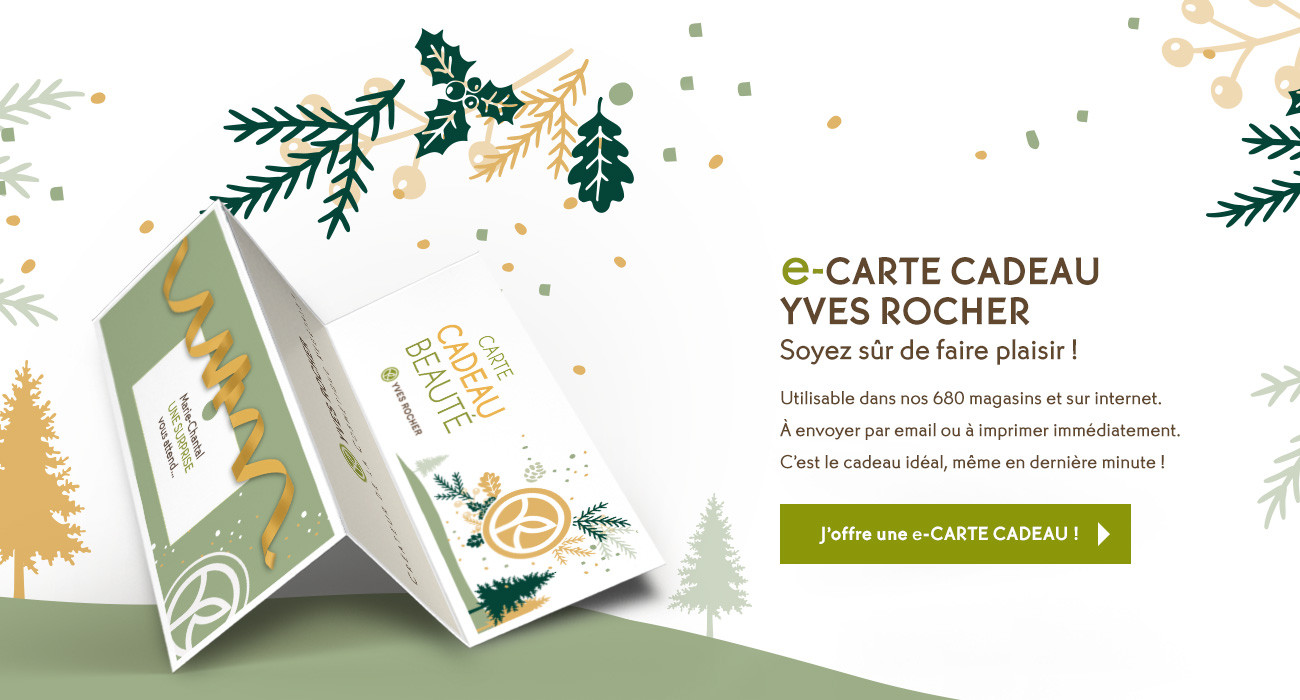 Idée Cadeau Noël La E Carte Cadeau Yves Rocher