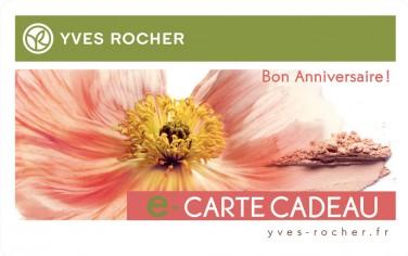 Carte Anniversaire Yves Rocher Tasyafiolarara Web